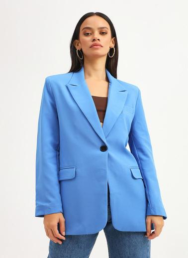 Quzu Ceket Mavi
